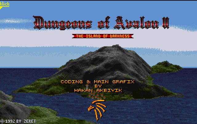 Pantallazo de Dungeons Of Avalon II: The Island Of Darkness para Amiga