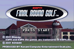 Pantallazo de ESPN Final Round Golf para Game Boy Advance
