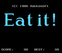 Pantallazo de Eat It para MSX