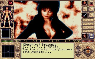 Pantallazo de Elvira II: The Jaws Of Cerberus para Amiga