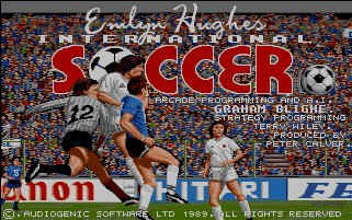 Pantallazo de Emlyn Hughes International Soccer para Amiga
