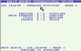 Pantallazo de Emlyn Hughes International Soccer para Commodore 64