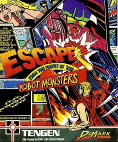 Caratula de Escape From The Planet Of The Robot Monsters para Amiga