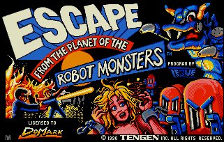 Pantallazo de Escape From The Planet Of The Robot Monsters para Amiga