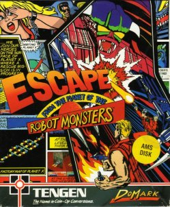 Caratula de Escape From The Planet Of The Robot Monsters para Amstrad CPC