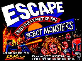Pantallazo de Escape From The Planet Of The Robot Monsters para Amstrad CPC