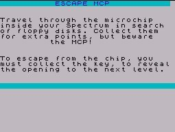 Pantallazo de Escape MCP para Spectrum