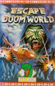Caratula de Escape from Doomworld para Commodore 64