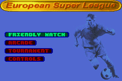 Pantallazo de European Super League para Game Boy Advance