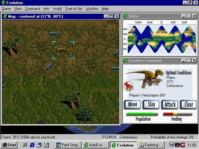 Pantallazo de Evolution: The Game of Intelligent Life para PC