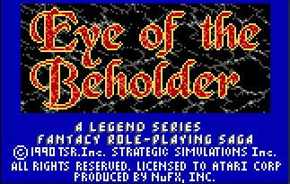 Pantallazo de Eye of the Beholder (Beta) para Atari Lynx