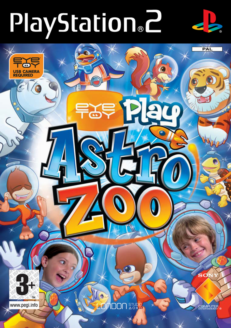 Caratula de EyeToy: Play Astro Zoo para PlayStation 2