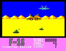 Pantallazo de F16 Fighting Falcon para Amstrad CPC