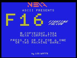 Pantallazo de F16 Fighting Falcon para MSX