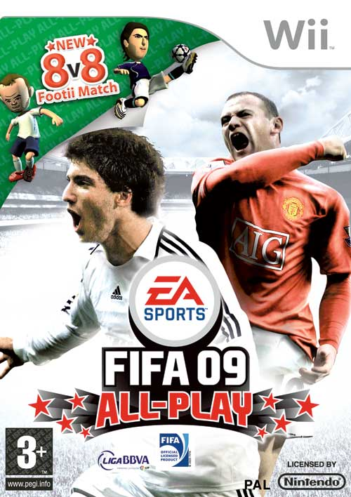 Caratula de FIFA 09 All-Play para Wii