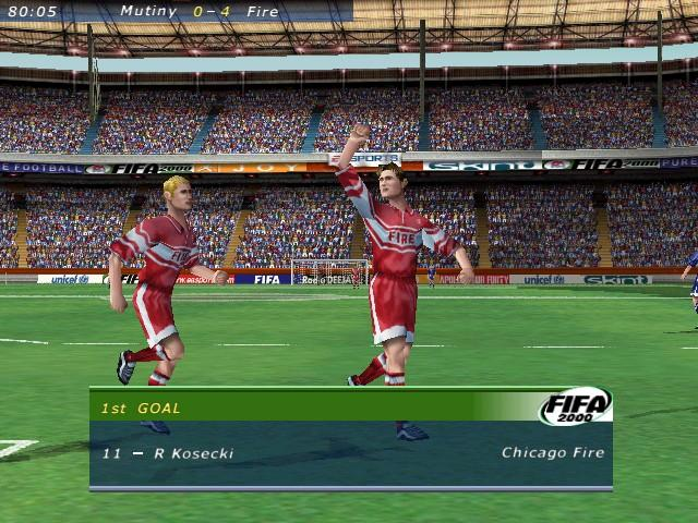 Pantallazo de FIFA 2000: Major League Soccer Classics para PC