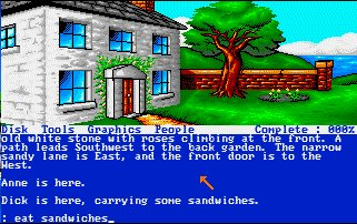 Pantallazo de Famous Five, The: Five On A Treasure Island para Amiga