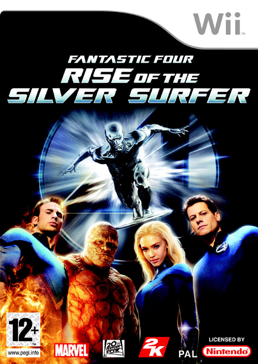 Caratula de Fantastic 4 : Rise of the Silver Surfer para Wii