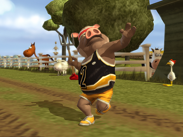 Pantallazo de Farmyard Party: Featuring the Olympigs para Wii