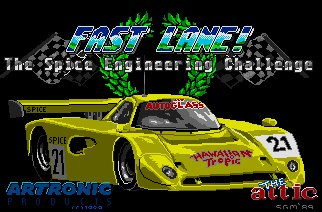 Pantallazo de Fast Lane! The Spice Engineering Challenge para Amiga