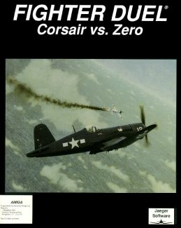 Caratula de Fighter Duel: Corsair vs Zero para Amiga