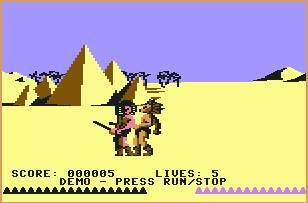 Pantallazo de Fighting Warrior para Commodore 64