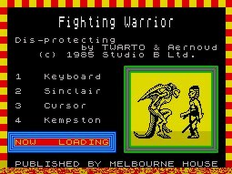Pantallazo de Fighting Warrior para Spectrum