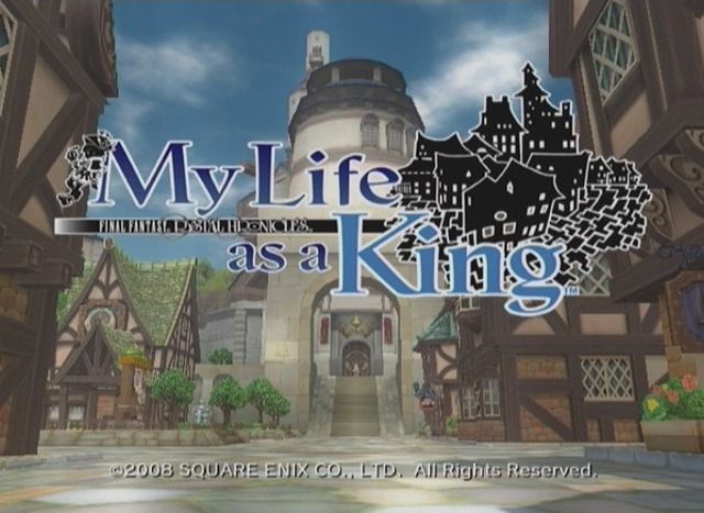Caratula de Final Fantasy Crystal Chronicles: My Life as a King para Wii
