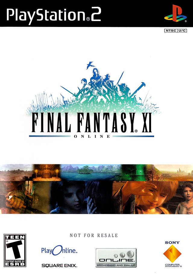 Caratula de Final Fantasy XI Online para PlayStation 2