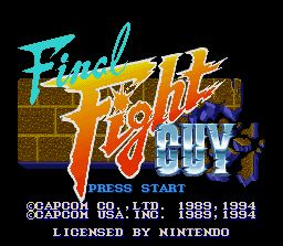 Pantallazo de Final Fight Guy para Super Nintendo
