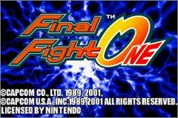 Pantallazo de Final Fight One para Game Boy Advance