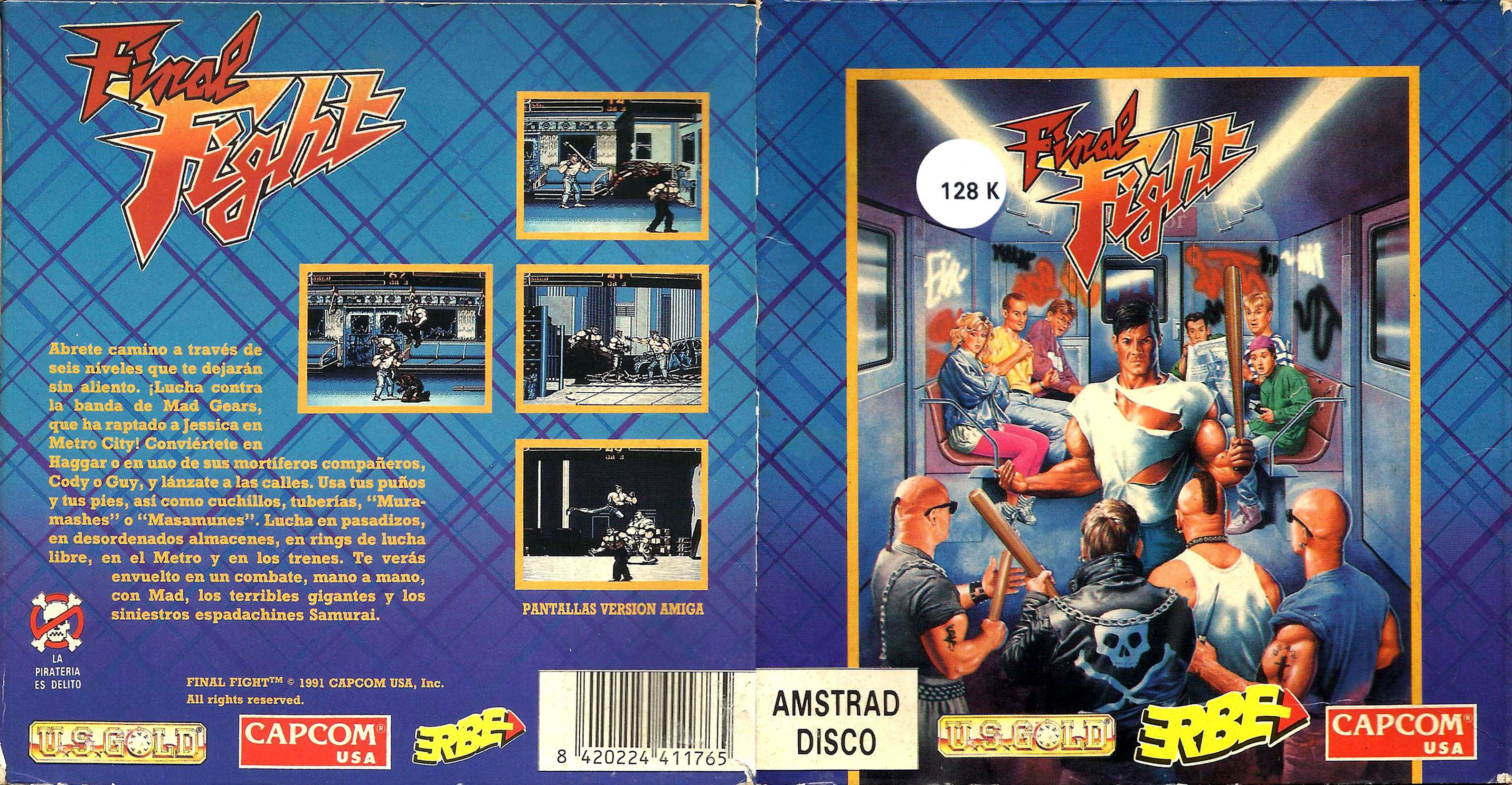 Caratula de Final Fight para Amstrad CPC