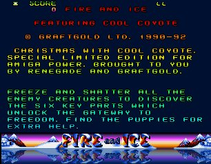 Pantallazo de Fire And Ice Christmas Special Edition para Amiga