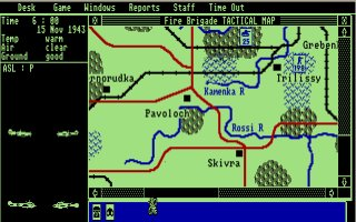 Pantallazo de Fire-Brigade: The Battle for Kiev 1943 para Atari ST