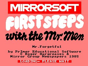 Pantallazo de First Steps With The Mr Men para Amstrad CPC