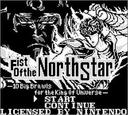 Pantallazo de Fist of the North Star para Game Boy