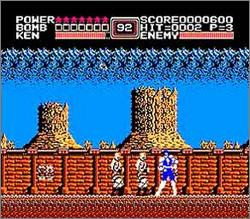 Pantallazo de Fist of the North Star para Nintendo (NES)