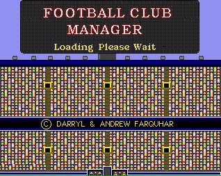 Pantallazo de Football Club Manager para Amiga