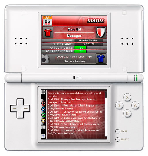 Pantallazo de Football Director DS para Nintendo DS