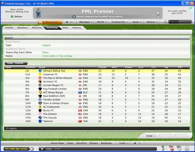 Pantallazo de Football Manager Live para PC