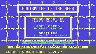 Pantallazo de Footballer of the Year para Commodore 64