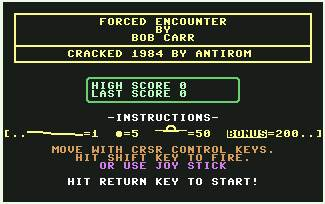 Pantallazo de Forced Encounter para Commodore 64