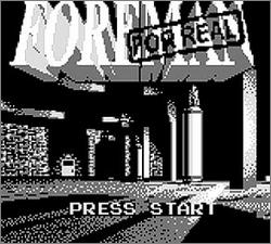 Pantallazo de Foreman for Real para Game Boy