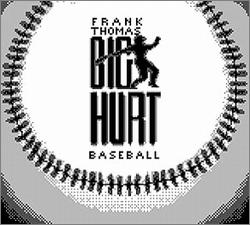 Pantallazo de Frank Thomas Big Hurt Baseball para Game Boy