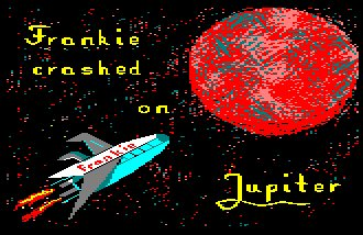 Pantallazo de Frankie Crashed On Jupiter para Amstrad CPC