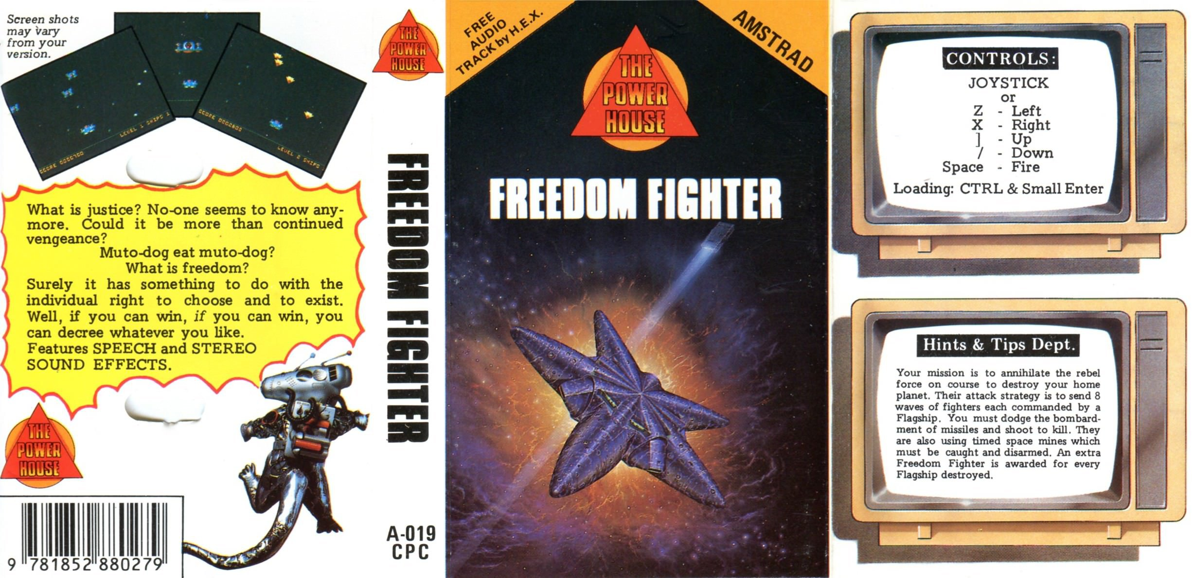 Caratula de Freedom Fighter para Amstrad CPC
