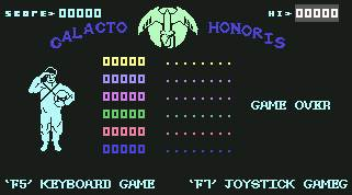Pantallazo de Galacto Honoris para Commodore 64