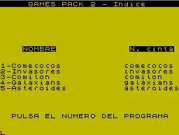 Pantallazo de Games Pack 2 para Spectrum