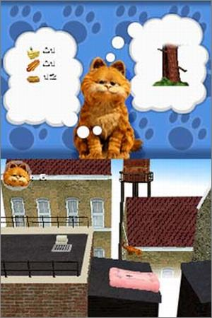 Pantallazo de Garfield: A Tale of Two Kitties para Nintendo DS