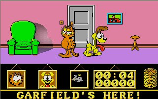 Pantallazo de Garfield in Big Fat Hairy Deal para Atari ST